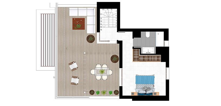 Plan 4 - 3 Bed Duplex 2nd Level