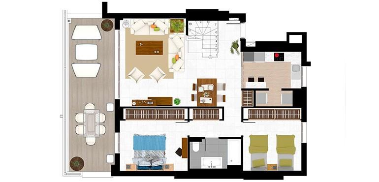 Plan 4 - 3 Bed Duplex
